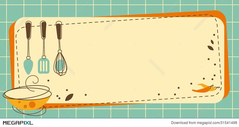 Clipart frame kitchen. Illustration megapixl