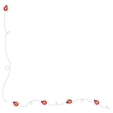 Free ladybug cliparts borders. Ladybugs clipart border