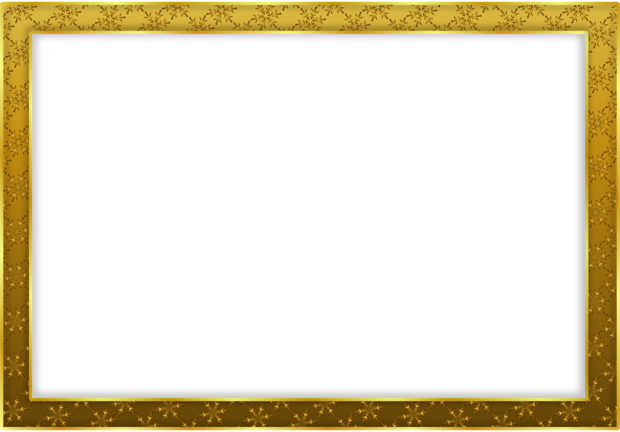 Simple gold landscape transparent. Png frame