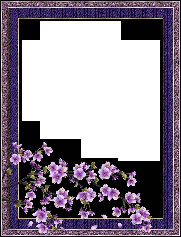Clipart frames lavender. Purple transparent flower frame