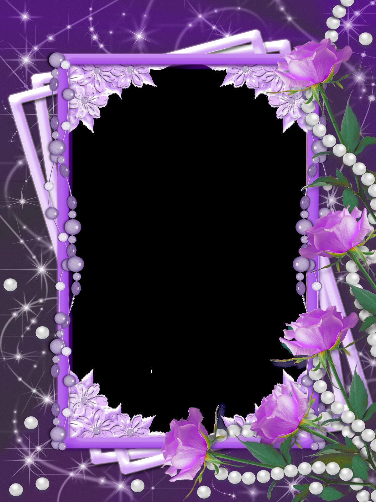 Clipart frames lavender. Transparent purple flower frame