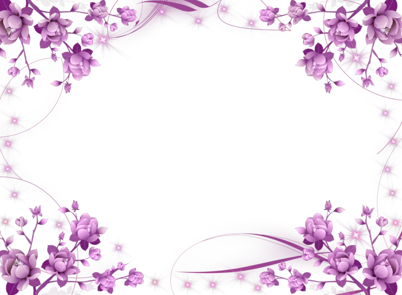 Purple clipart boarder. Flower frame flowers and