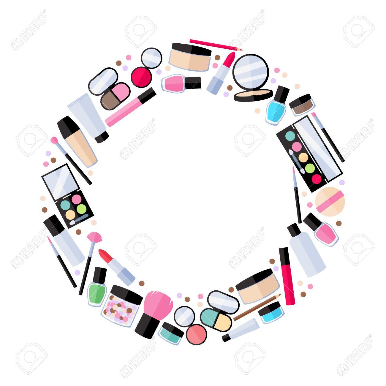 Frame raampies in . Makeup clipart banner
