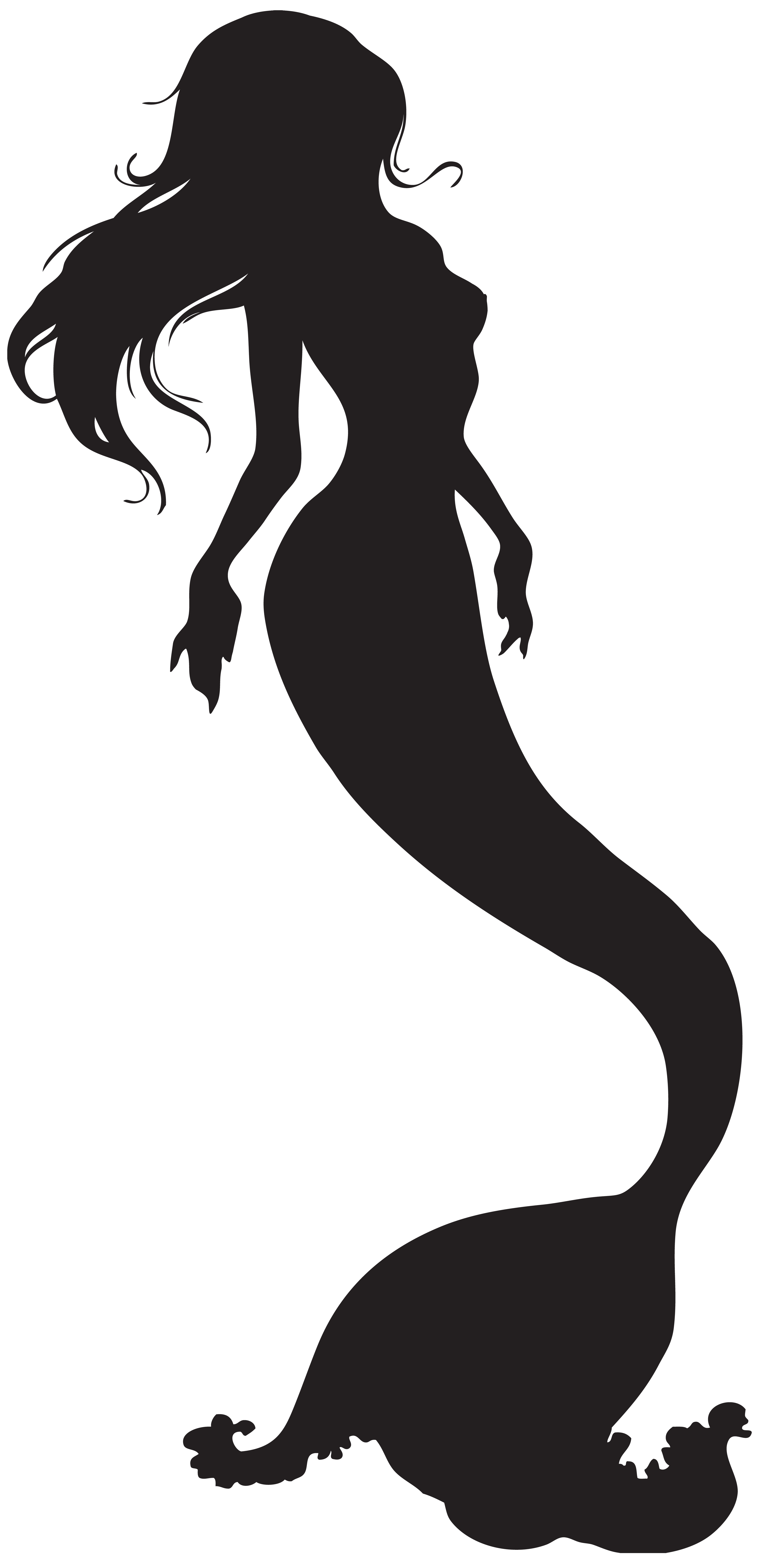 Silhouette png clip art. Picture clipart mermaid