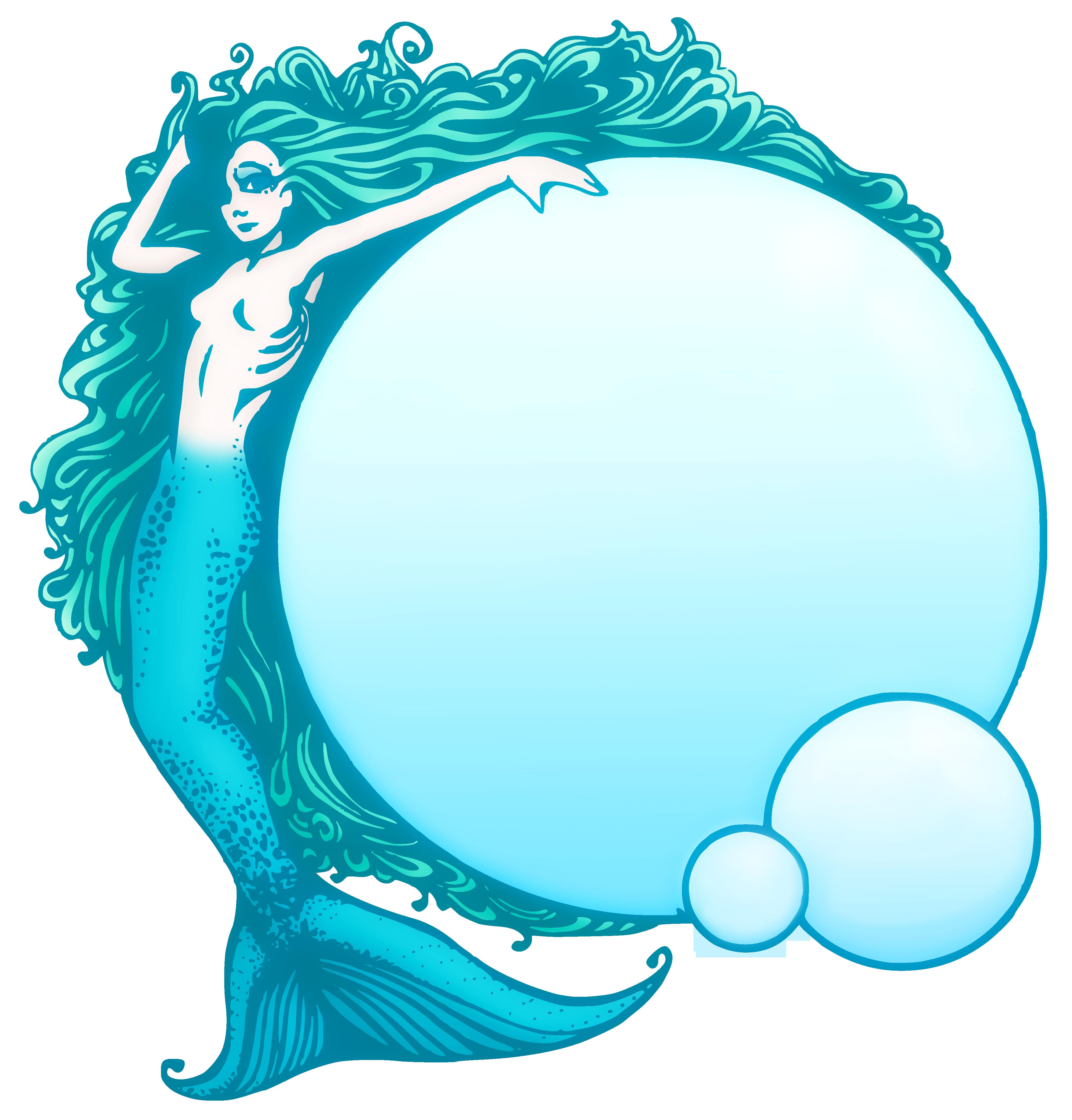 Public domain free clip. Frames clipart mermaid