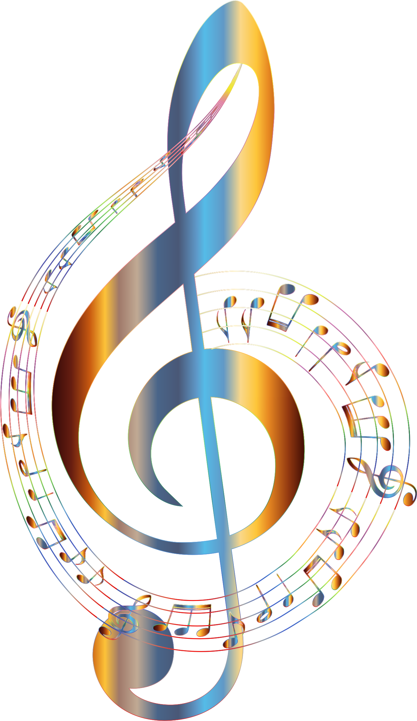 Coloring clipart music. Chromatic musical notes typography