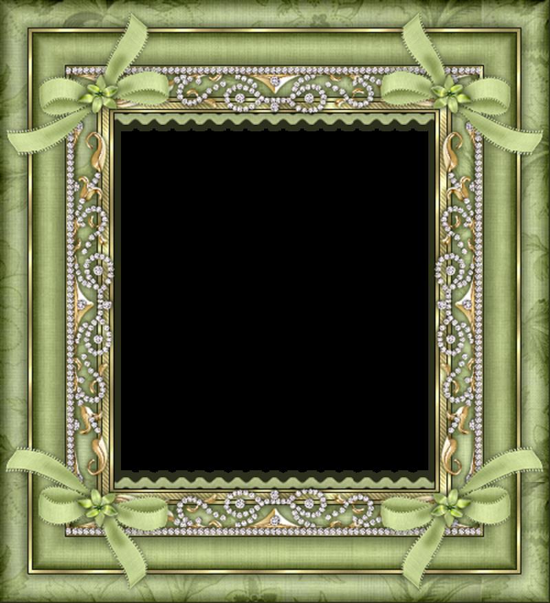 Green transparent frame gallery. Design clipart nature
