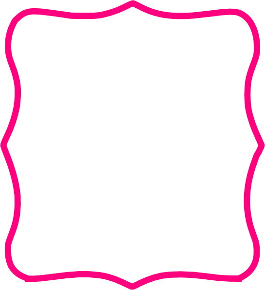 Hot pink clip art. Frame clipart png