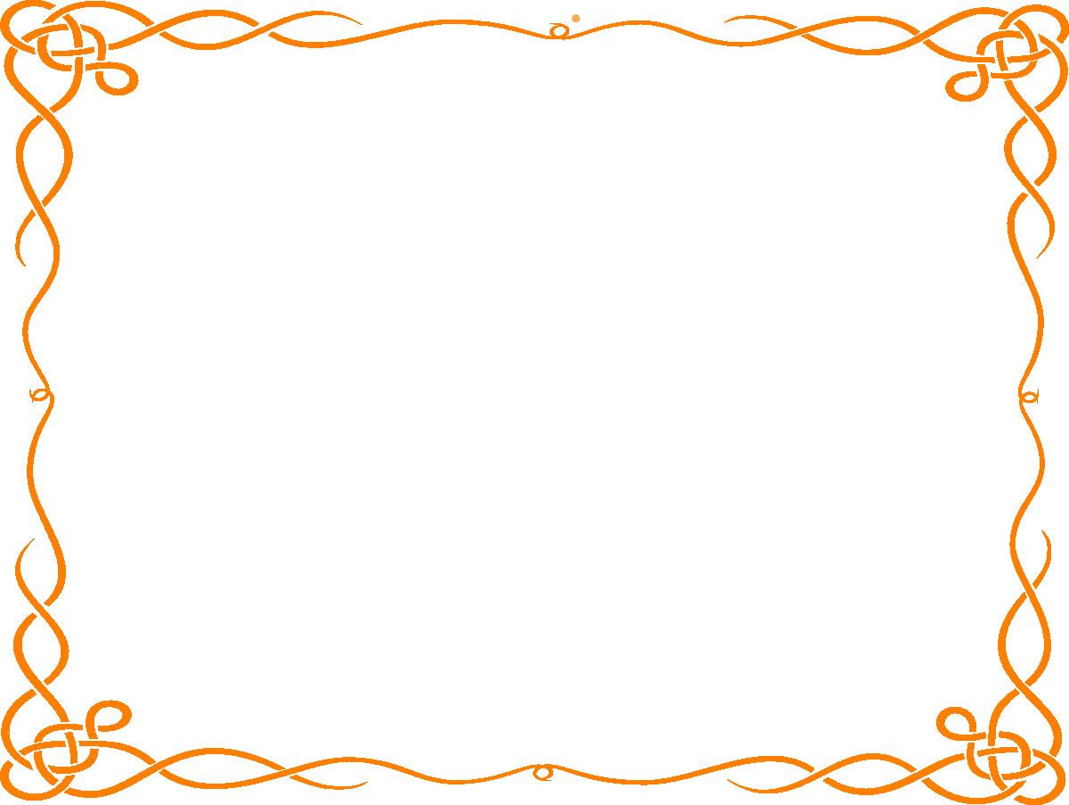 Frames clipart peach. Borders and orange free