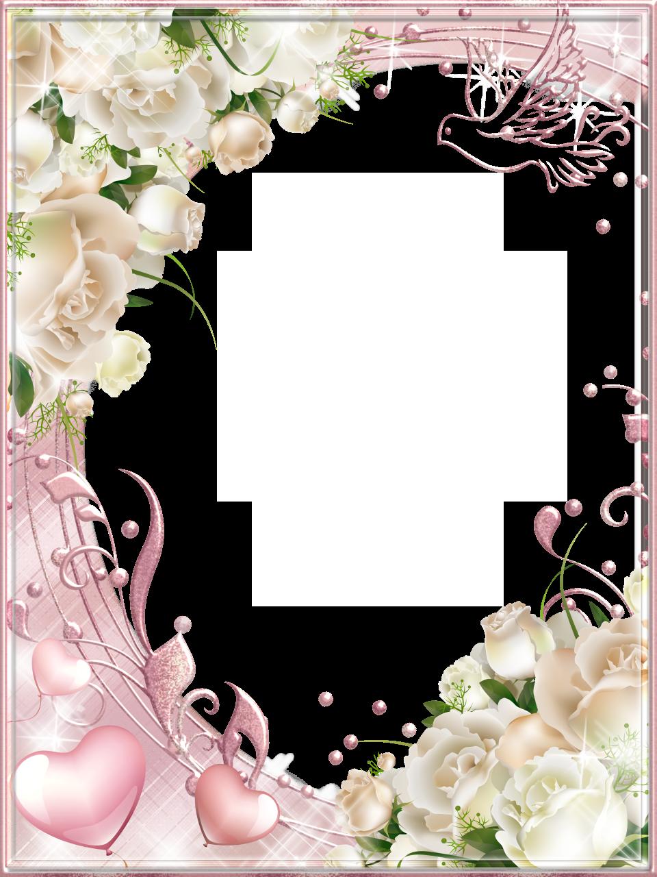 Witte rozen roze png. Clipart wedding scrapbook