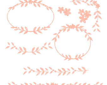 Clipart frames peach. Free border cliparts download