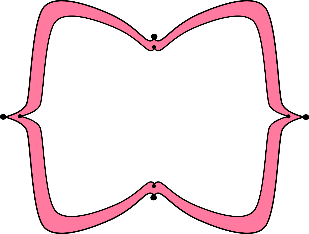 Wide pointy frame free. Pink clipart bracket