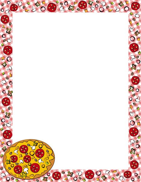 Free word cliparts download. Frame clipart pizza