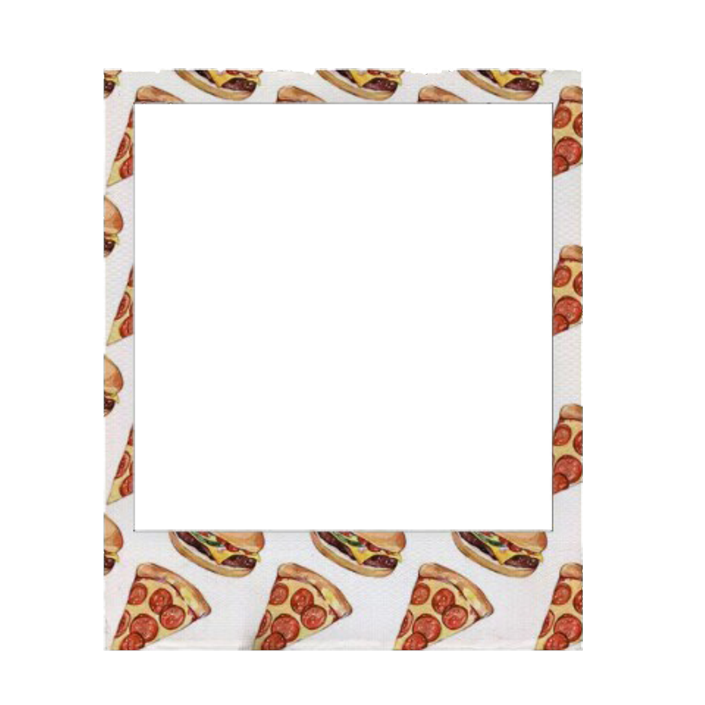 Polaroid ilovepizza pictureframe sticker. Pizza clipart frame