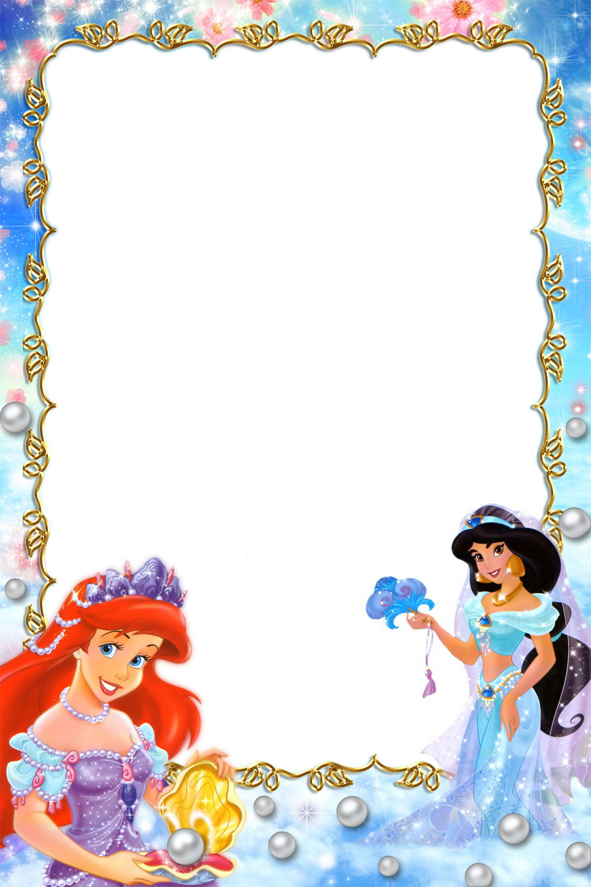 Fav princesses borders and. Worm clipart border