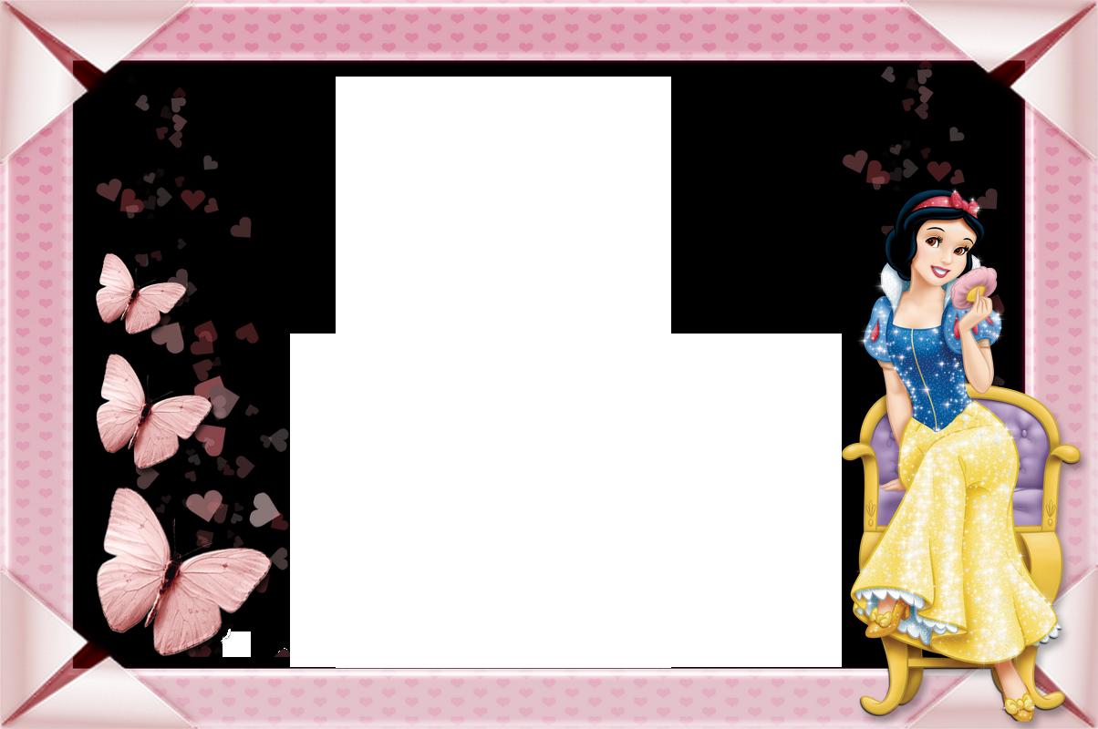 Clipart frames princess. Snow white kids transparent