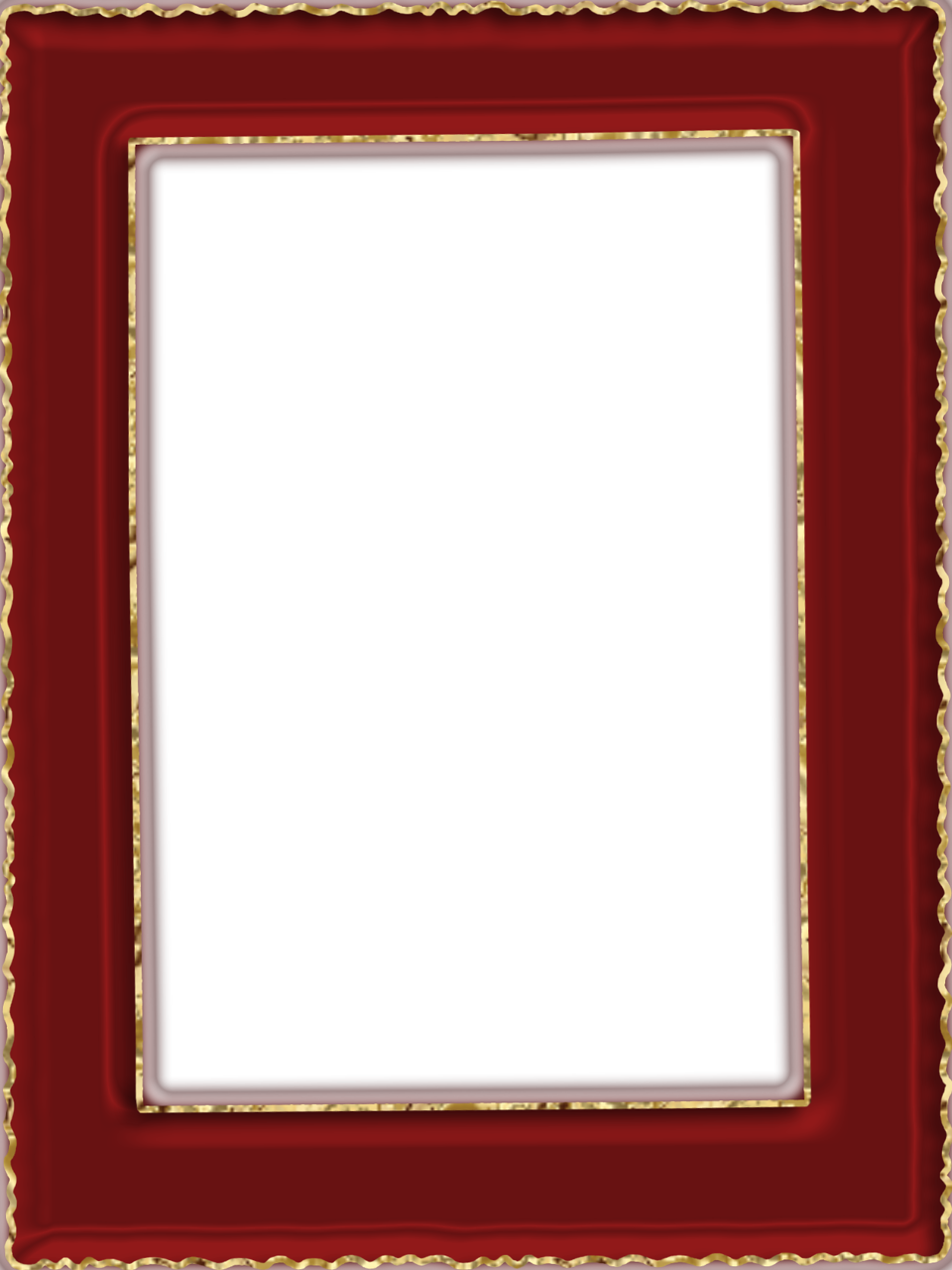 Transparent and gold gallery. Red frame png