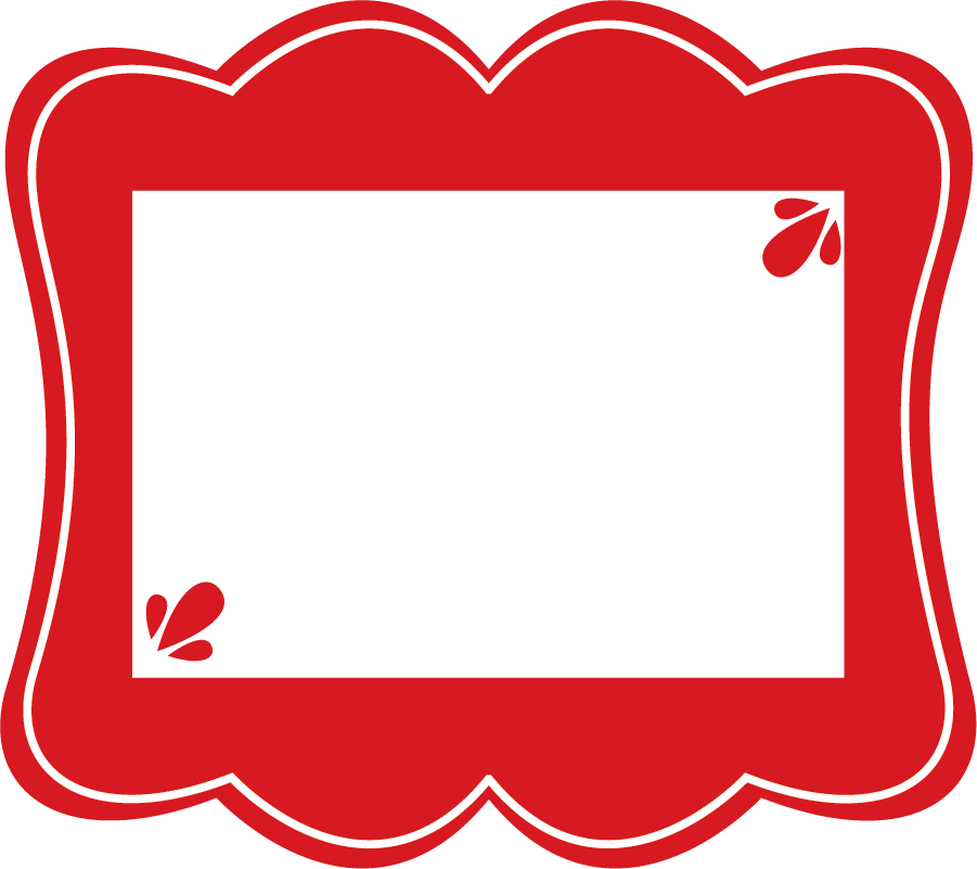 collection of high. Frame clipart red