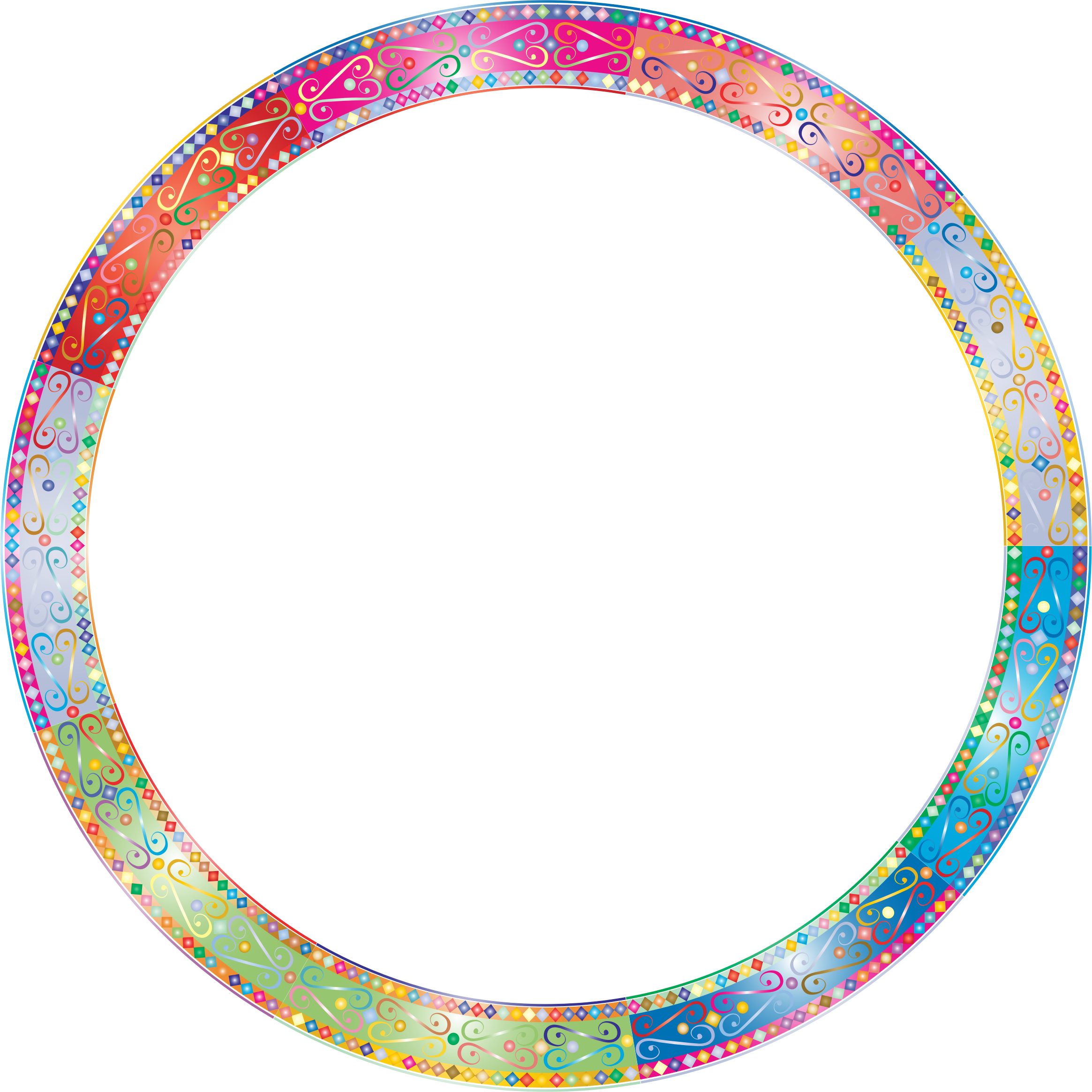 Clipart prismatic decorative ornamental. Circle frame png