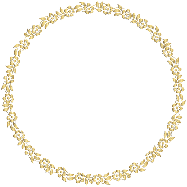 Gold circle frame png. Round images transparent free