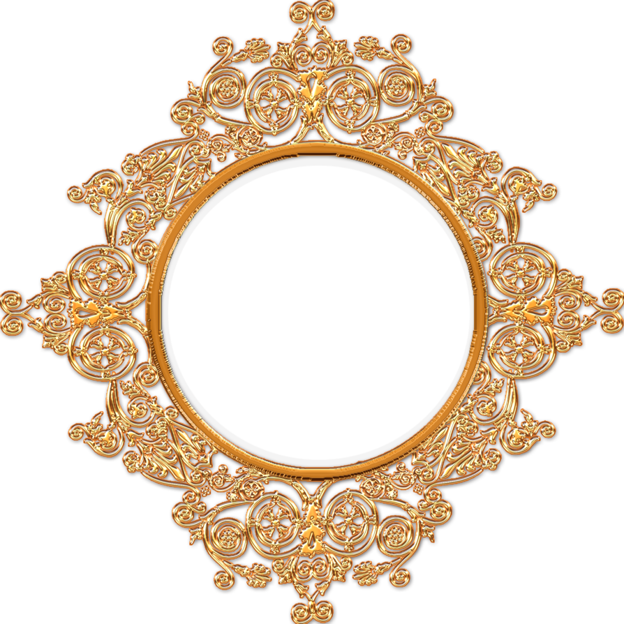 Royal frame png. Golden decorated by gautamdas