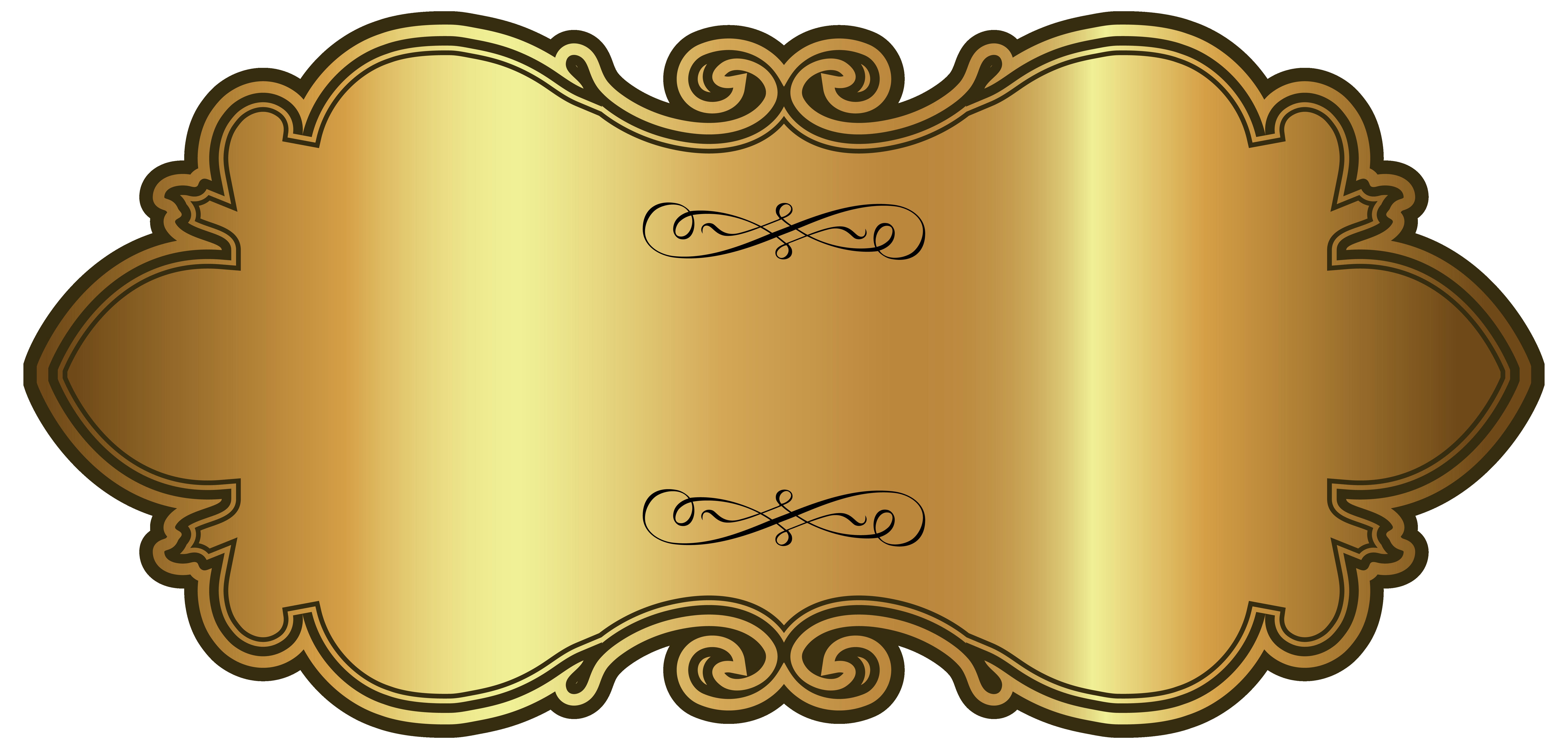 Golden luxury label template. Marriage clipart drum