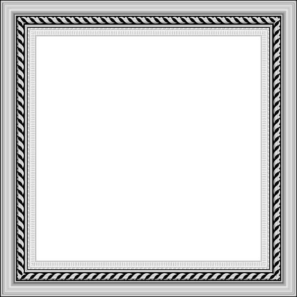 Transparent photo frame gallery. Silver border png