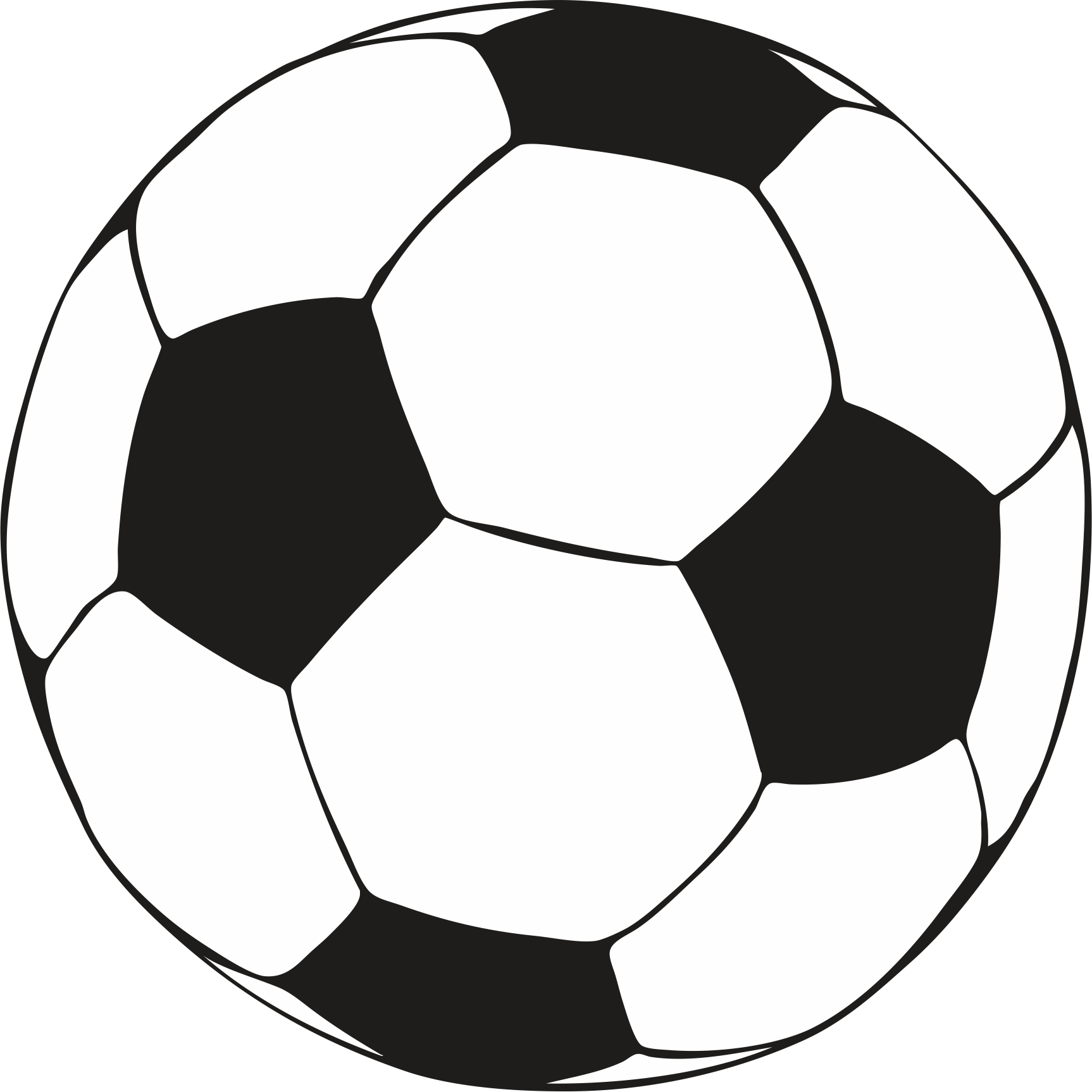 Watching soccer through a. Color clipart football player