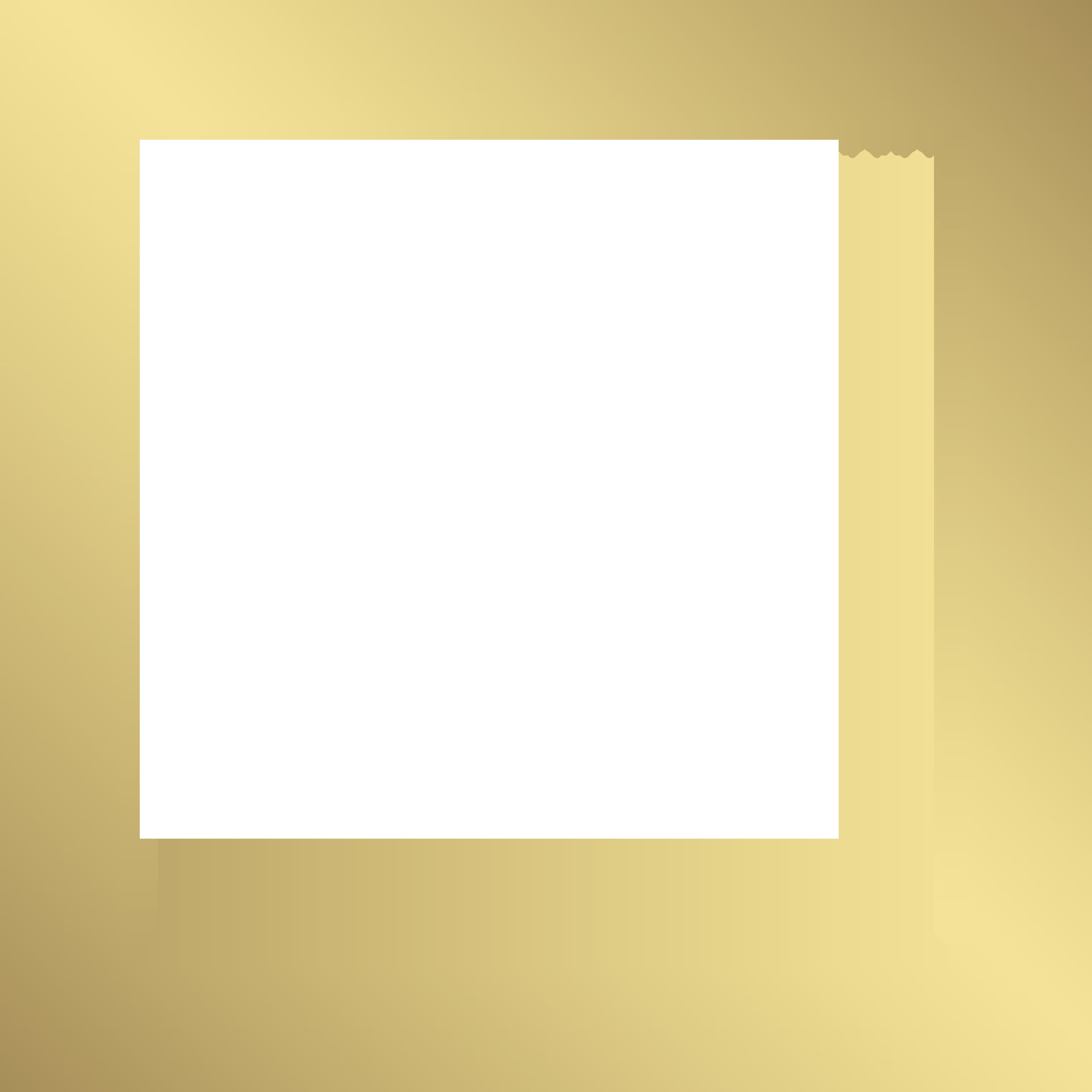 Square border png. Decorative frame gold clip