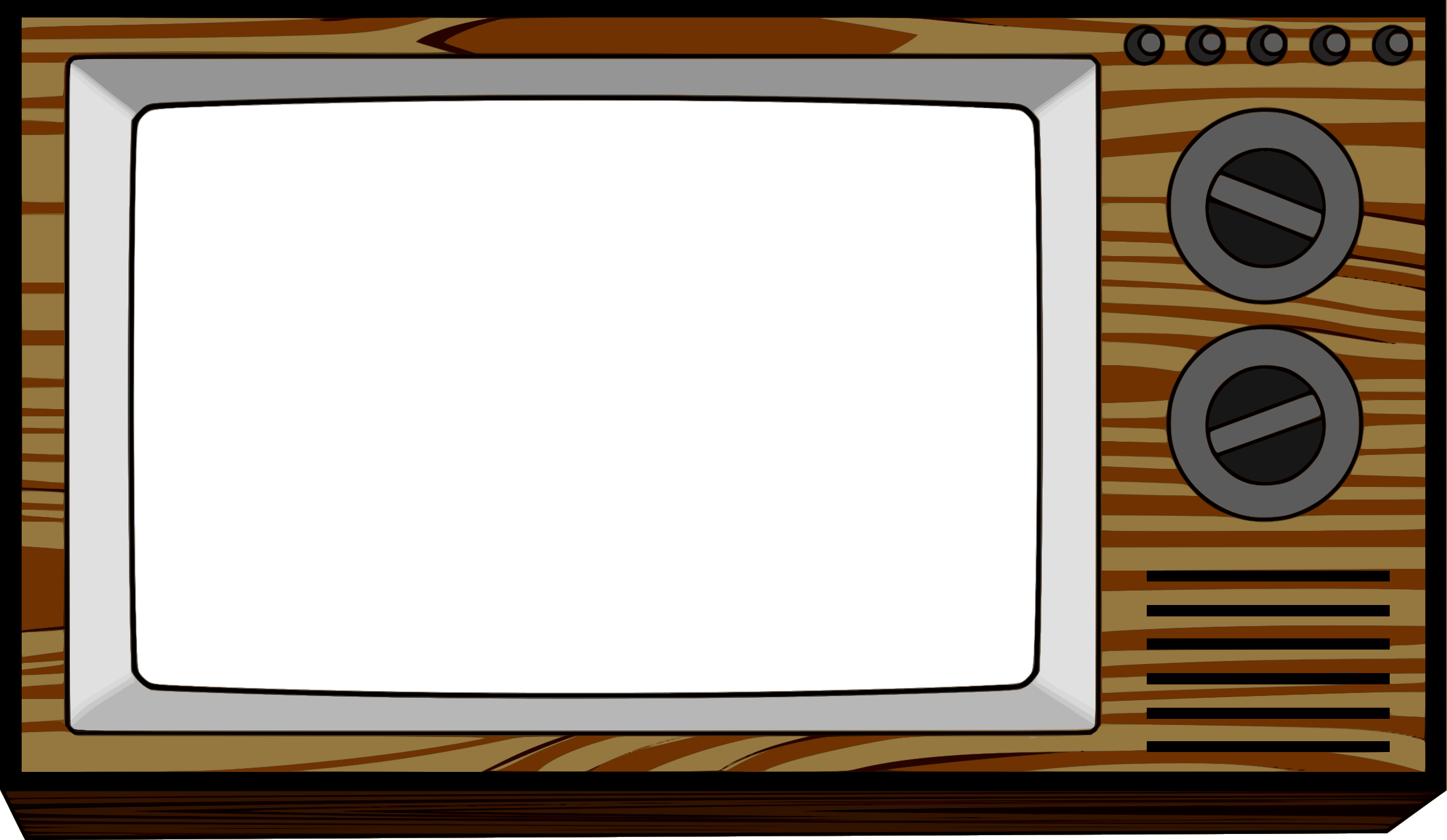 Frame pencil and in. Clipart tv illustration
