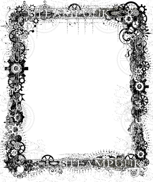 Steampunk clipart banner. Bdr png bling by
