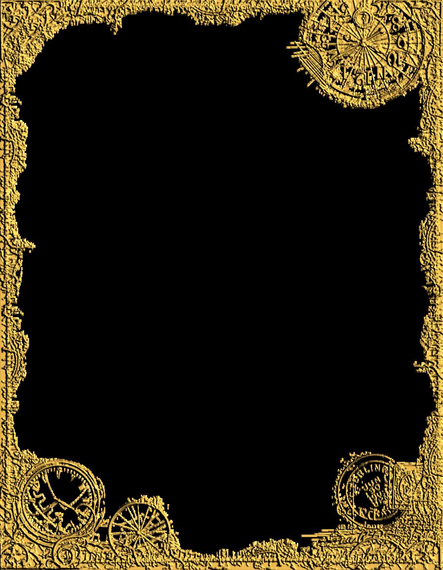 Clipart frames steampunk. Corner design png google