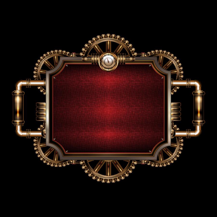 Steampunk clipart banner. Steam frame by illustratorg