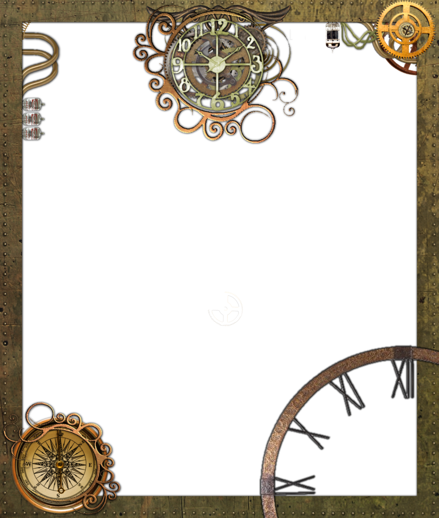 Steampunk clipart frame. Circle background transparent clip