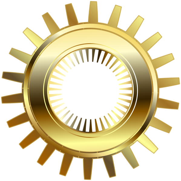 Gold gear png clip. Steampunk clipart banner