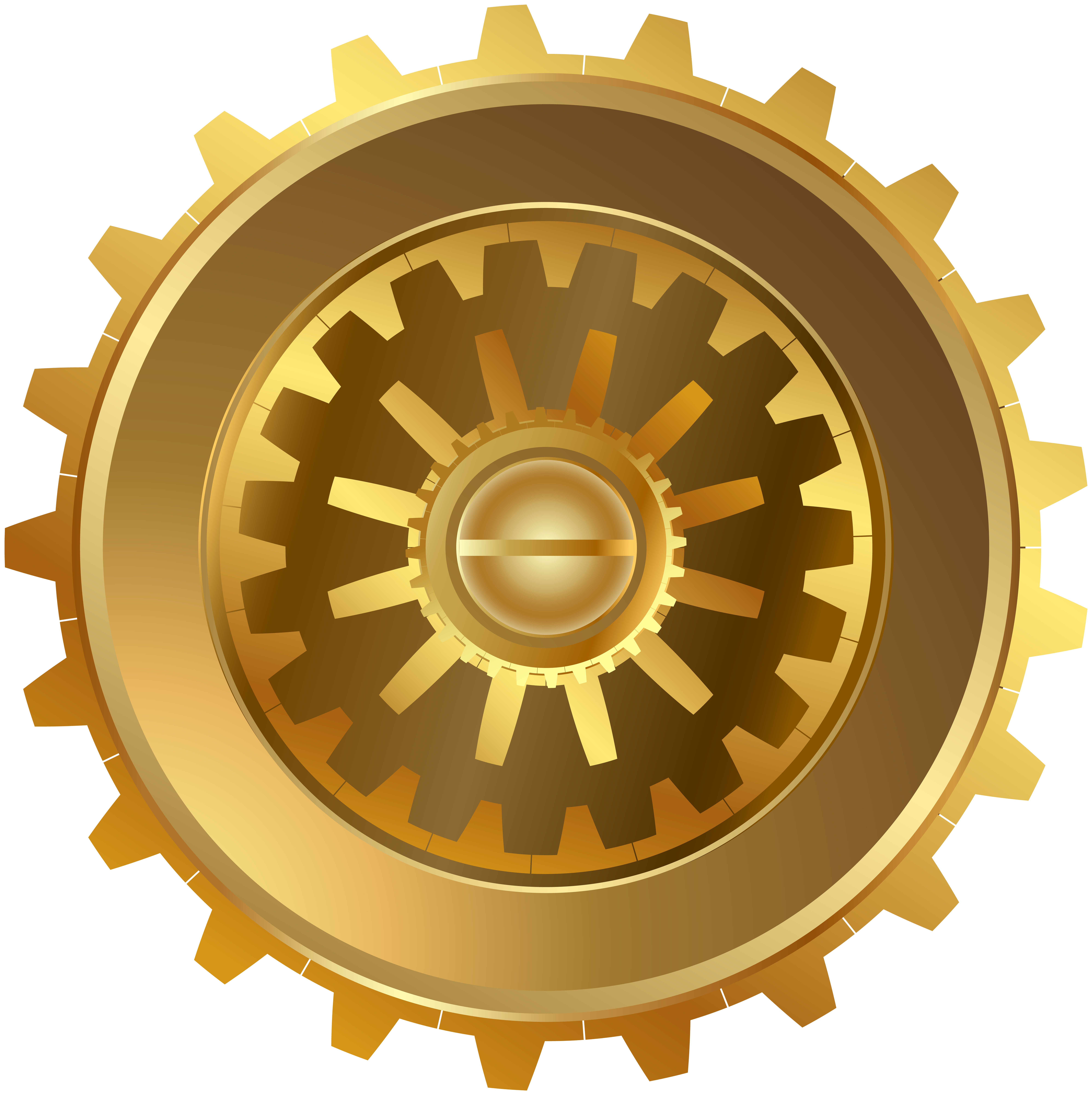 Gold gear png clip. Steampunk clipart file