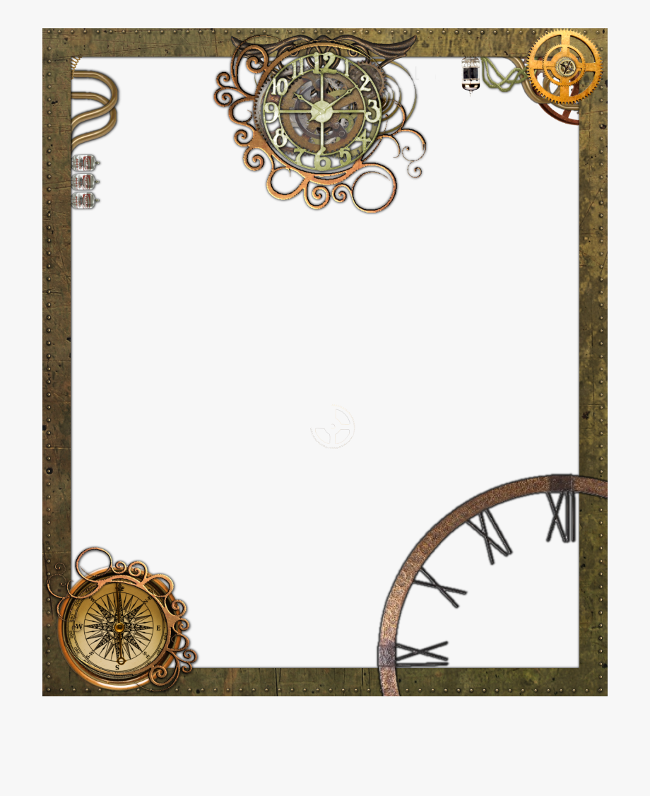 Steampunk clipart frame. Transparent photo png