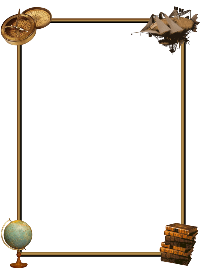 Border by zaubrer on. Steampunk clipart borders