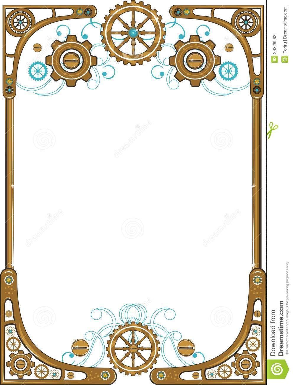 Pin by brittany ball. Steampunk clipart frame