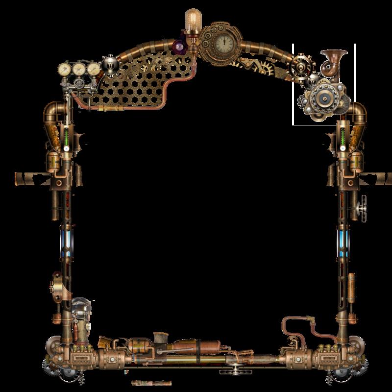 Picture frame deviantart clip. Clipart frames steampunk