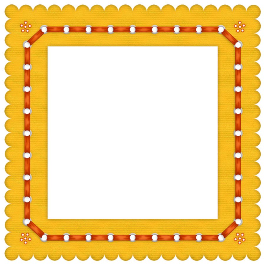 Yellow frame png. Summer colored transparent gallery
