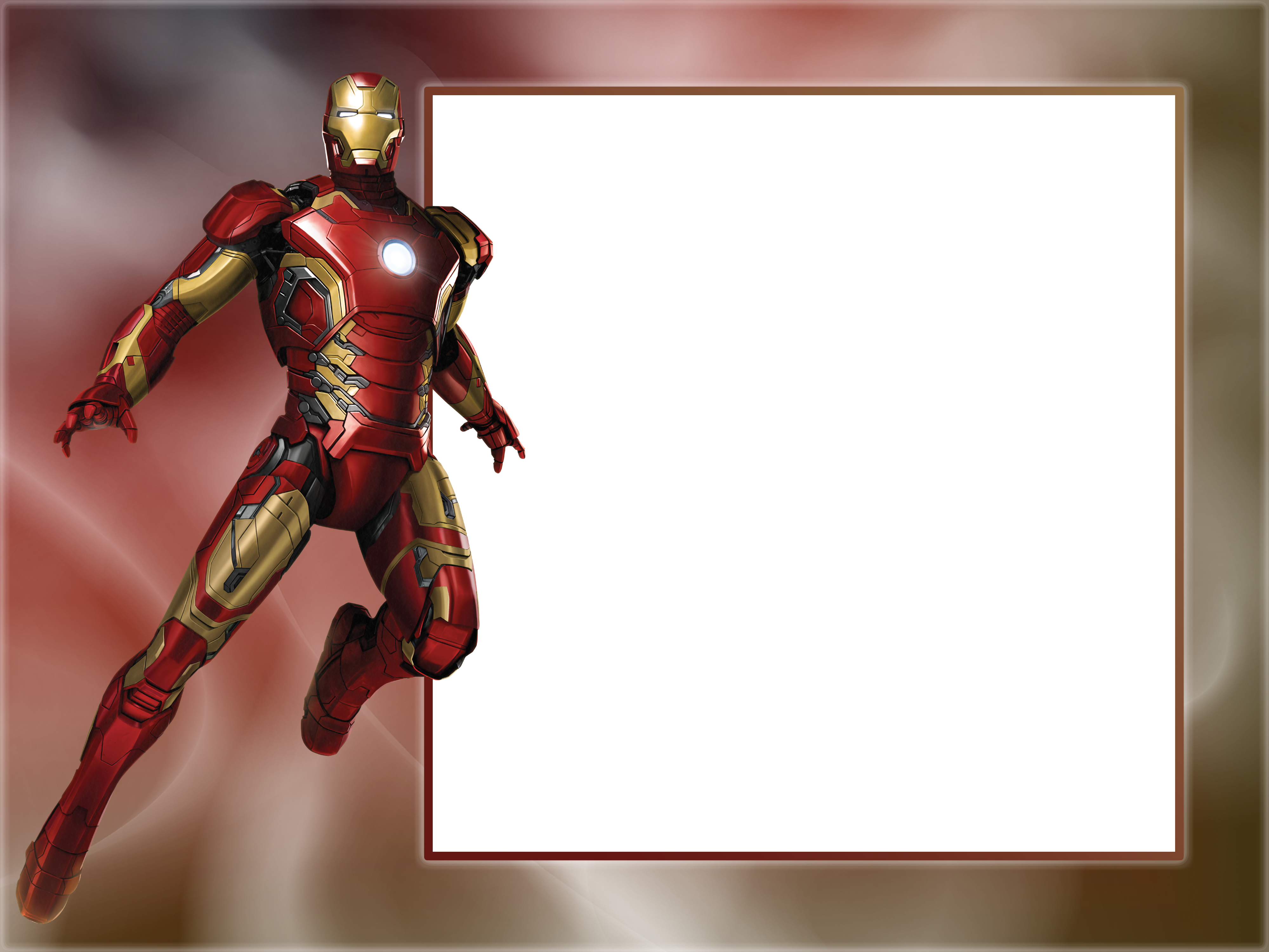 Transparent photo frame gallery. Superheroes clipart iron man cartoon