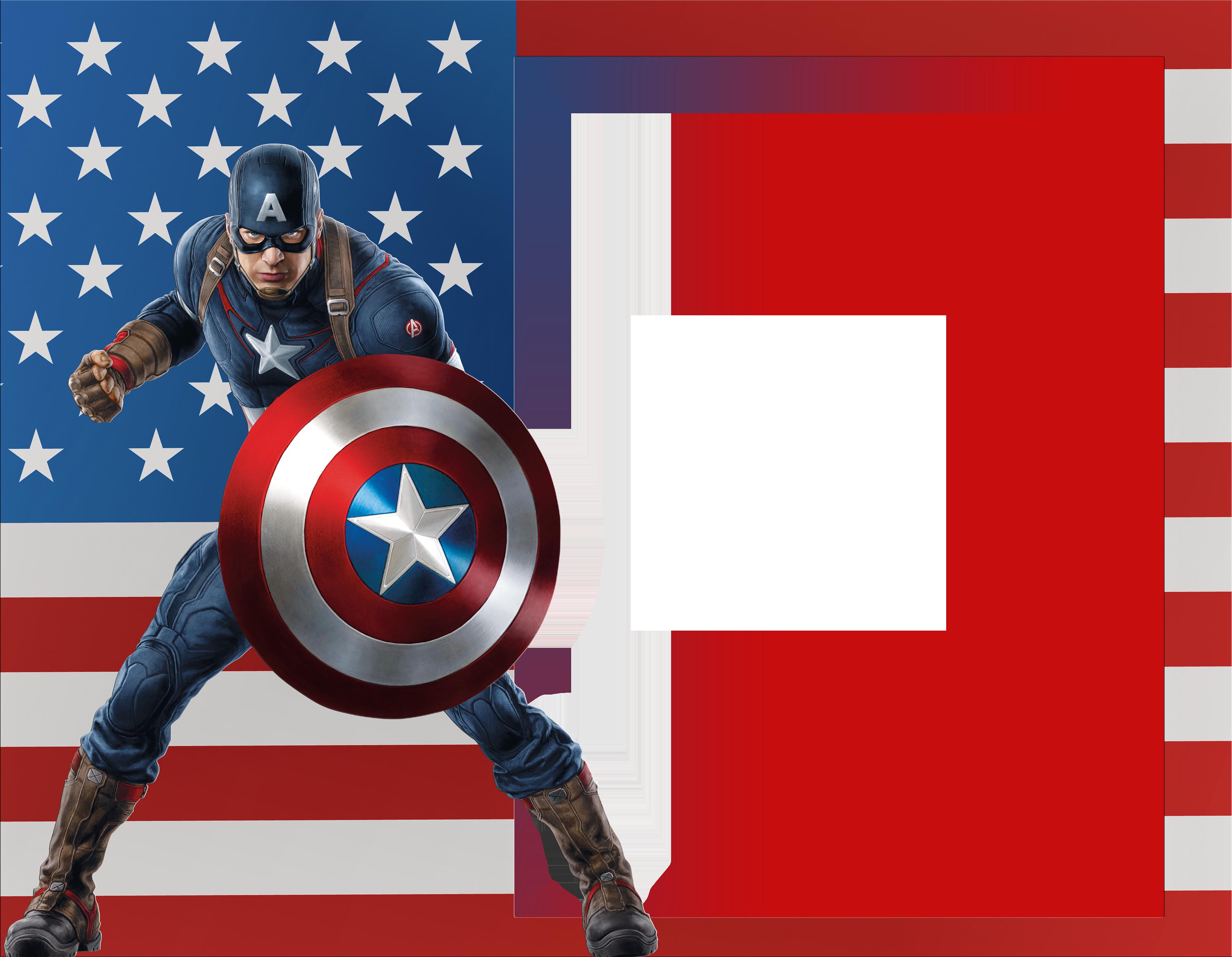 Frames clipart superhero. Captain america transparent photo