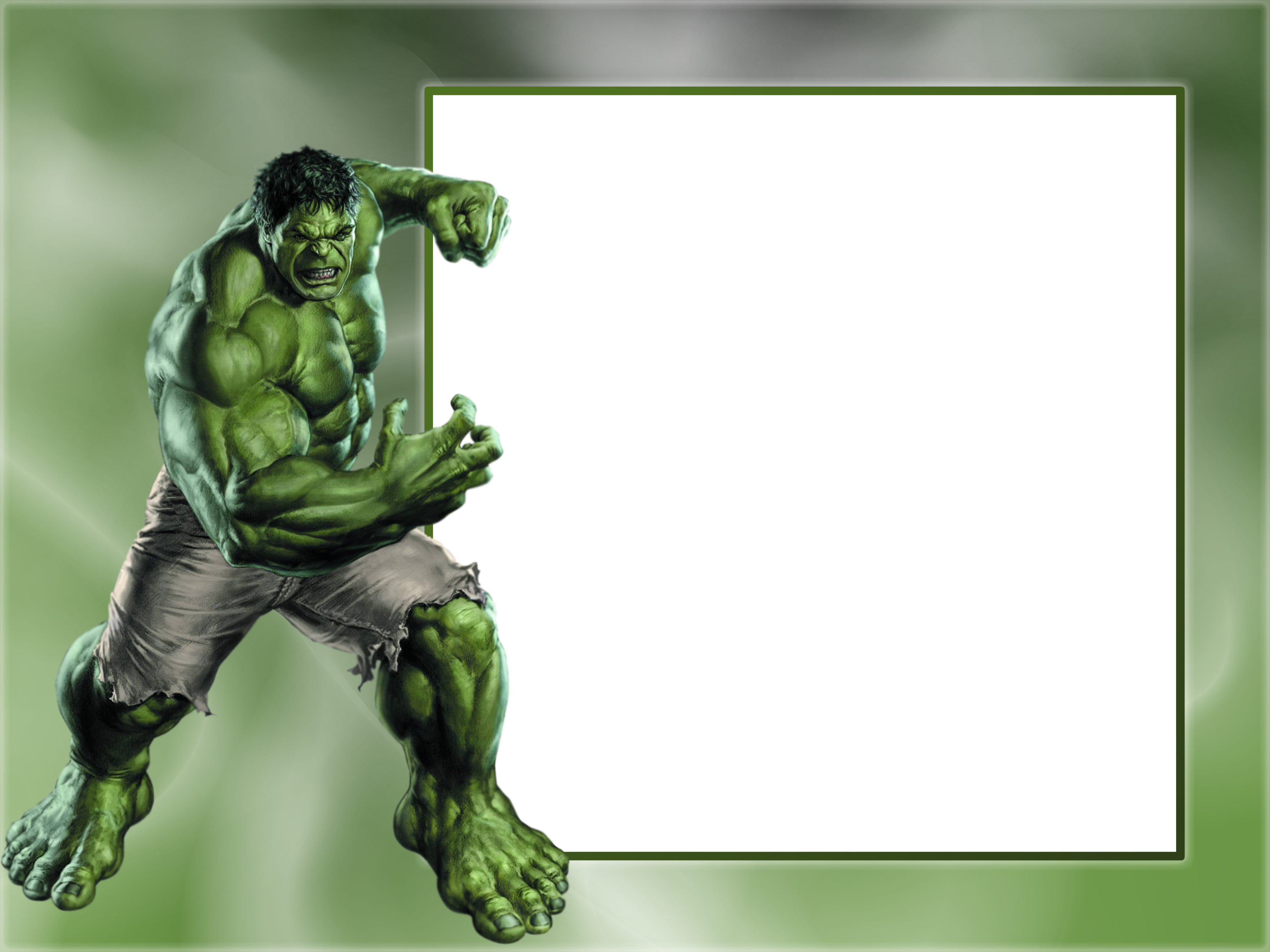 Transparent photo frame gallery. Hulk clipart happy