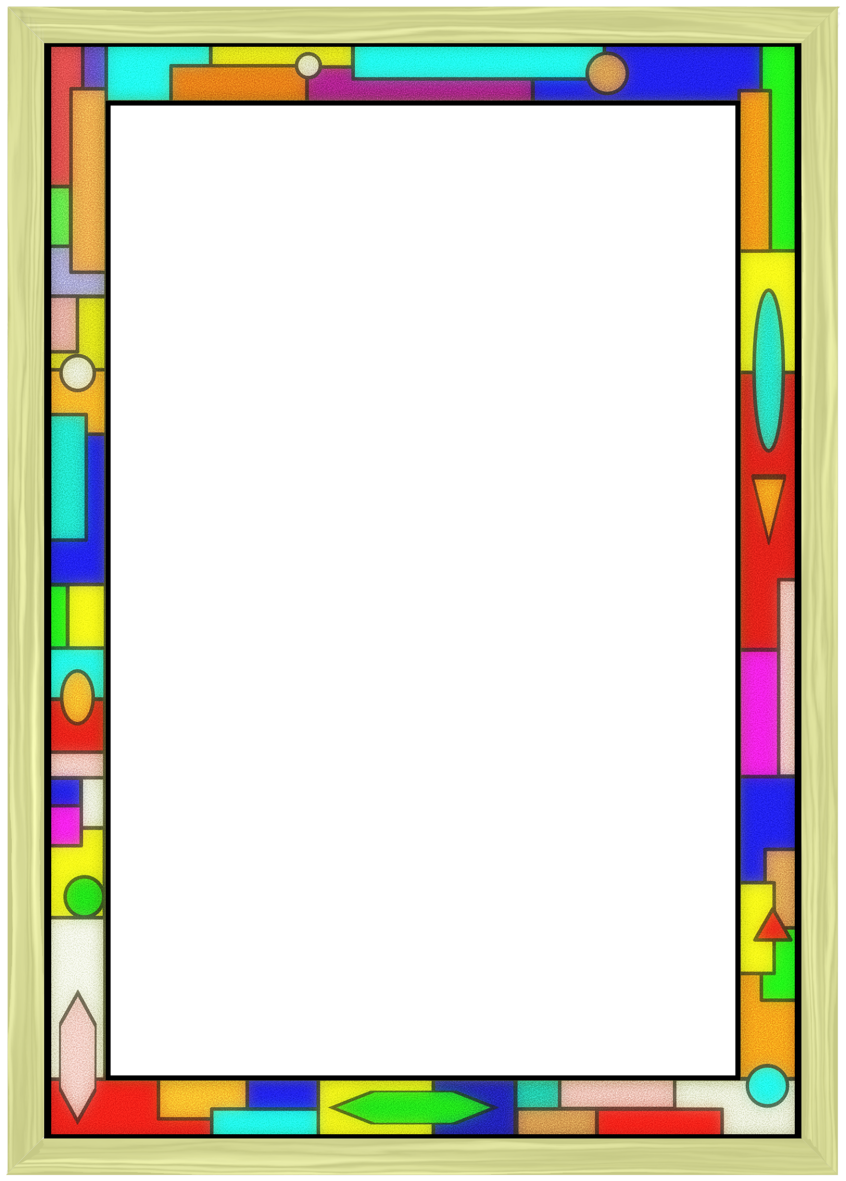 Colorful border png. Clipart stained glass big