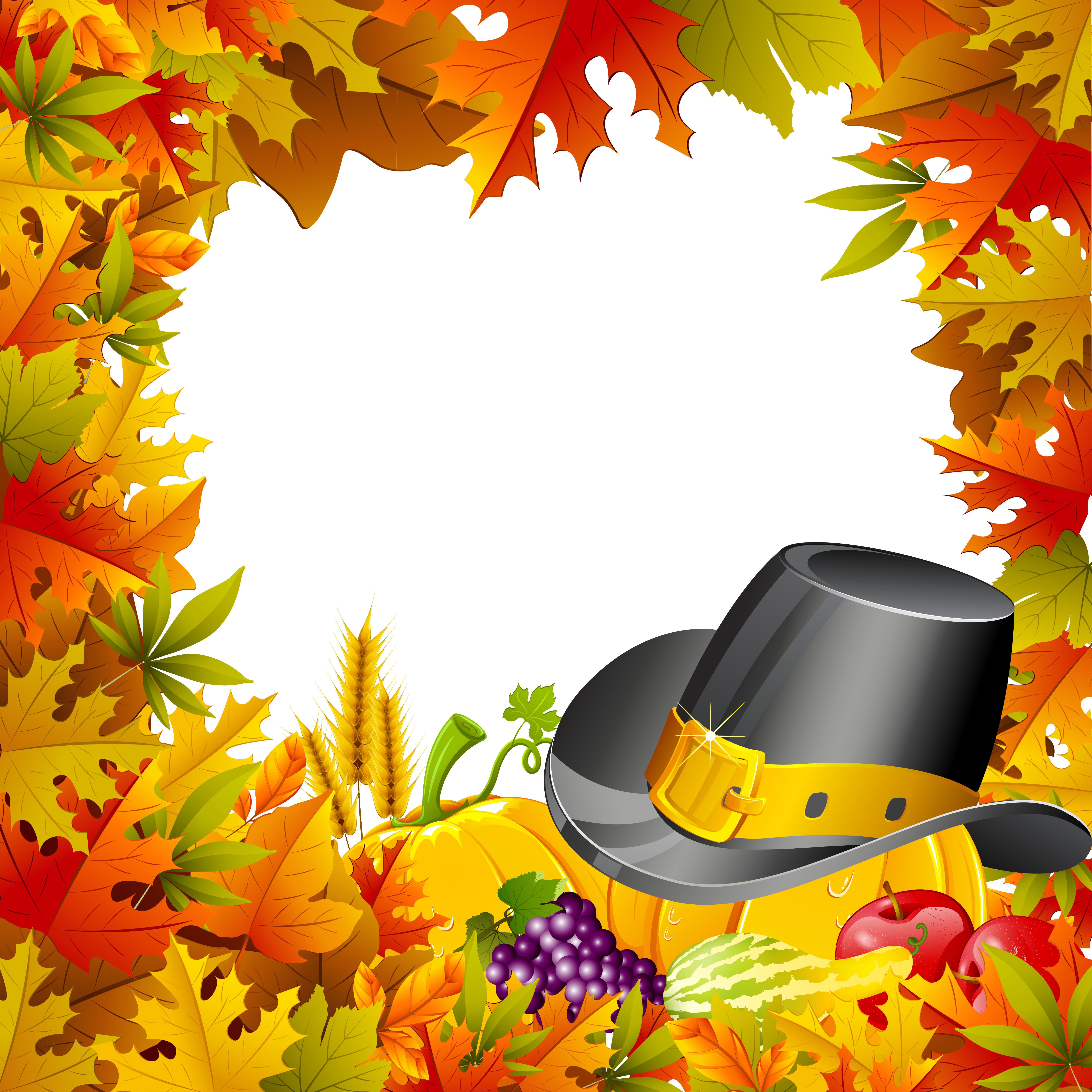 Transparent frame gallery yopriceville. Clipart frames thanksgiving