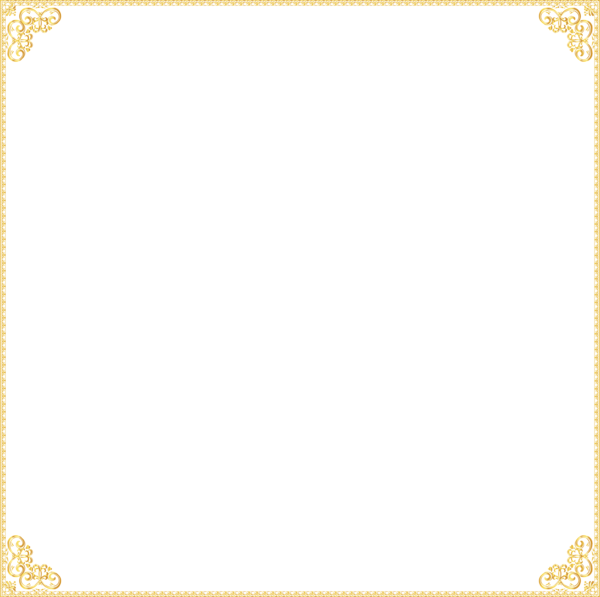 Gold border png. Frame images transparent free