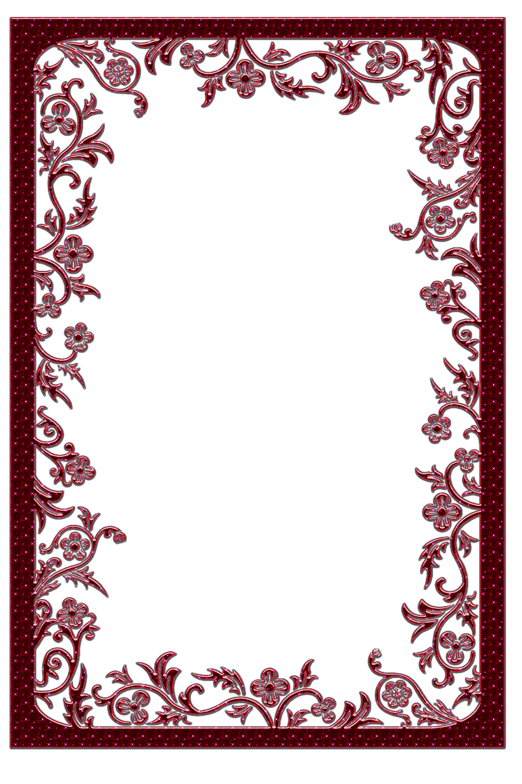 Clipart gallery portrait frame. Large red transparent yopriceville