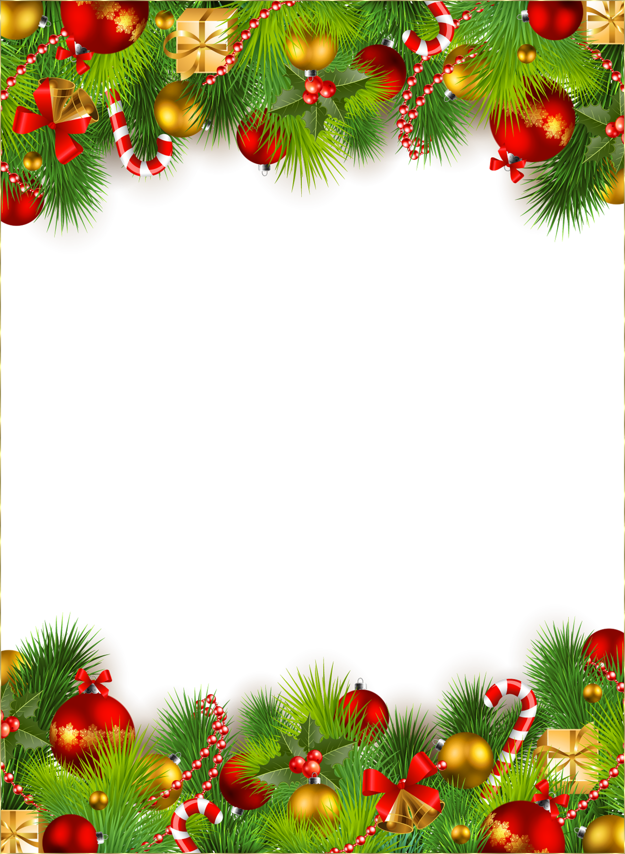 Picture frame ornaments wallpapers. Christmas ornament border png