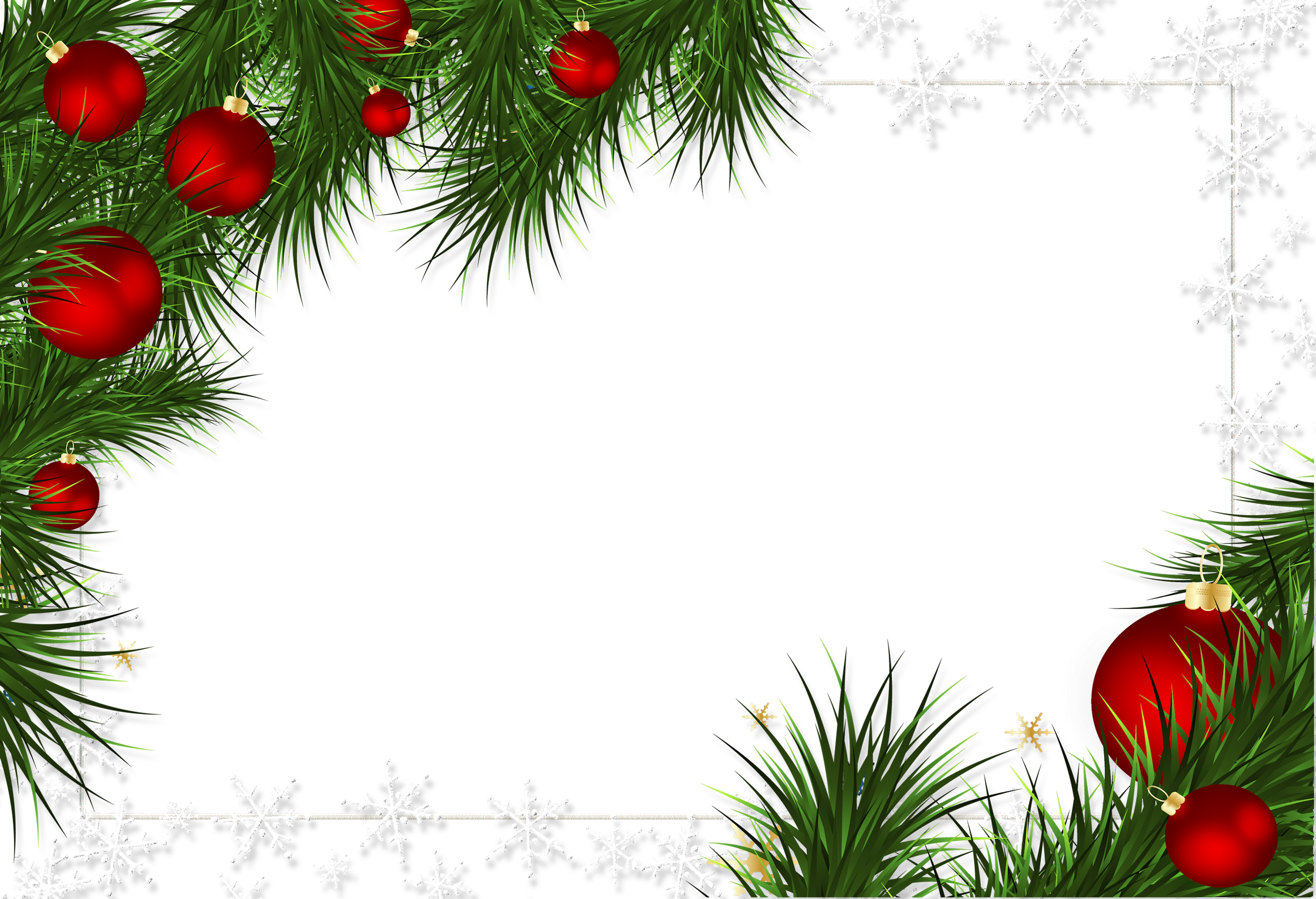 Transparent borders and frames. Christmas frame png
